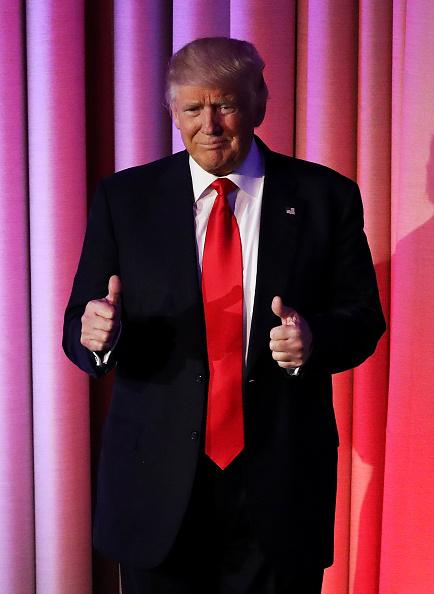 笑顔「Republican Presidential Nominee Donald Trump Holds Election Night Event In New York City」:写真・画像(4)[壁紙.com]