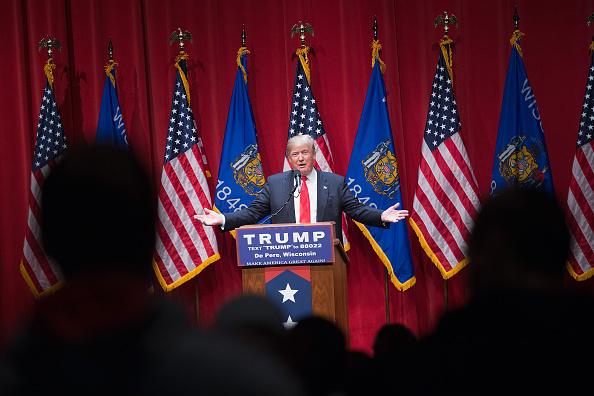 Scott Olson「GOP Presidential Candidate Donald Trump Campaigns Near Green Bay, Wisconsin」:写真・画像(17)[壁紙.com]