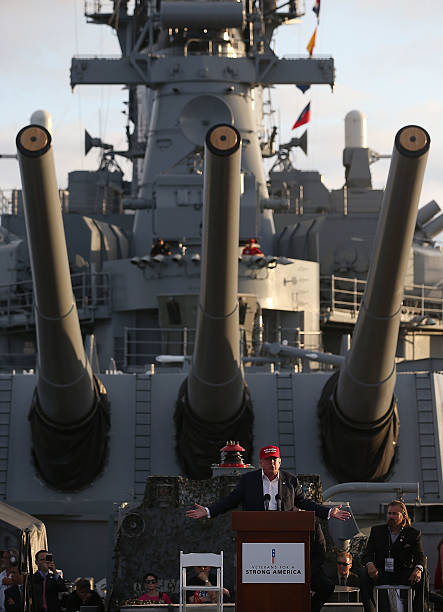 Donald Trump Leads Rally For US Military At USS Iowa:ニュース(壁紙.com)