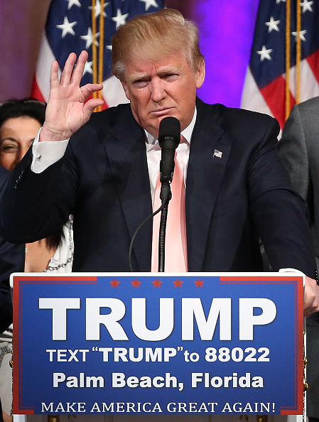 Super Tuesday「GOP Presidential Candidate Donald Trump Holds Primary Night Press Conference In Florida」:写真・画像(5)[壁紙.com]