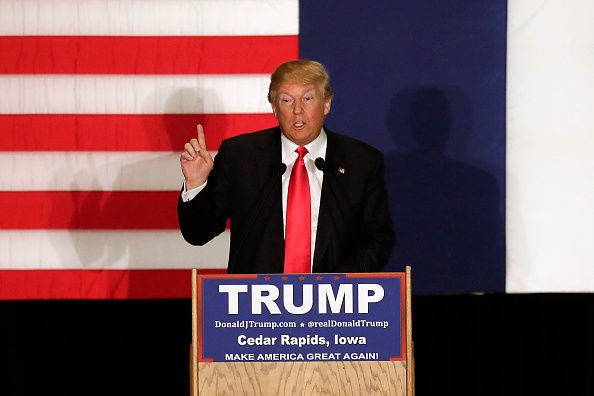 US Republican Party 2016 Presidential Candidate「Donald Trump Holds Final Iowa Campaign Rallies On Day Of Caucuses」:写真・画像(5)[壁紙.com]