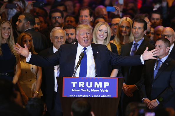 Winning「Donald Trump Holds NY Election Night Event At Trump Tower」:写真・画像(1)[壁紙.com]