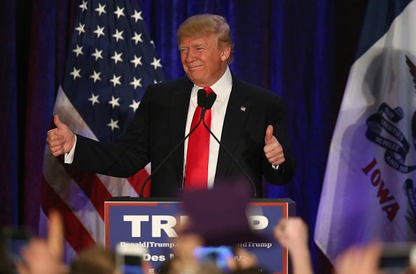 Night「GOP Presidential Candidate Donald Trump Holds Iowa Caucus Night Gathering」:写真・画像(19)[壁紙.com]