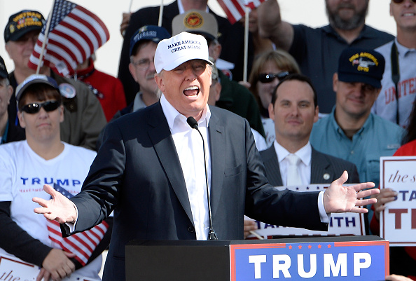US Republican Party Presidential Candidate「Donald Trump rallies in Norfolk」:写真・画像(13)[壁紙.com]