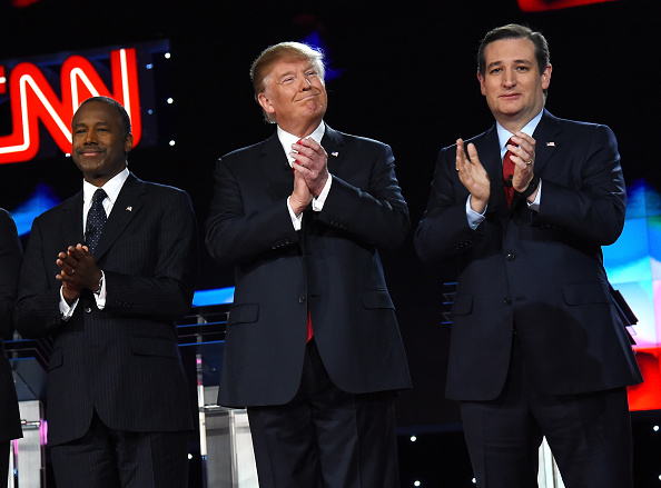 US Republican Party 2016 Presidential Candidate「GOP Presidential Candidates Debate In Las Vegas」:写真・画像(13)[壁紙.com]