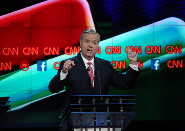 US Republican Party 2016 Presidential Candidate「GOP Presidential Candidates Debate In Las Vegas」:写真・画像(11)[壁紙.com]