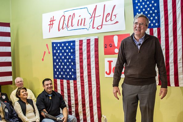 Jeb Bush「GOP Presidential Candidate Jeb Bush Campaigns Day Ahead Of Iowa Caucus」:写真・画像(18)[壁紙.com]
