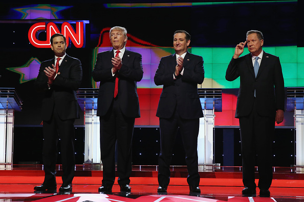 US Republican Party 2016 Presidential Candidate「Republican Presidential Candidates Debate In Miami Area」:写真・画像(3)[壁紙.com]
