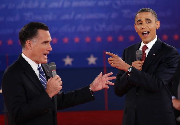 Mitt Romney「Barack Obama And Mitt Romney Participate In Second Presidential Debate」:写真・画像(17)[壁紙.com]