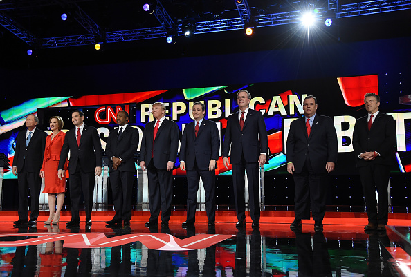 US Republican Party 2016 Presidential Candidate「GOP Presidential Candidates Debate In Las Vegas」:写真・画像(2)[壁紙.com]