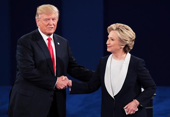 2016年アメリカ大統領選挙「Candidates Hillary Clinton And Donald Trump Hold Second Presidential Debate At Washington University」:写真・画像(9)[壁紙.com]