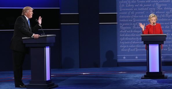 US Democratic Party 2016 Presidential Candidate「Hillary Clinton And Donald Trump Face Off In First Presidential Debate At Hofstra University」:写真・画像(11)[壁紙.com]