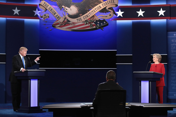 US Republican Party 2016 Presidential Candidate「Hillary Clinton And Donald Trump Face Off In First Presidential Debate At Hofstra University」:写真・画像(16)[壁紙.com]