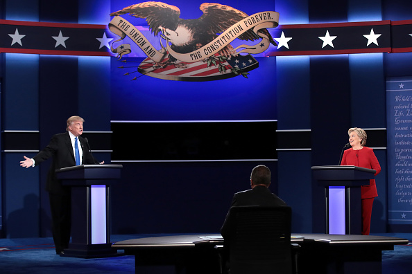 US Republican Party 2016 Presidential Candidate「Hillary Clinton And Donald Trump Face Off In First Presidential Debate At Hofstra University」:写真・画像(12)[壁紙.com]