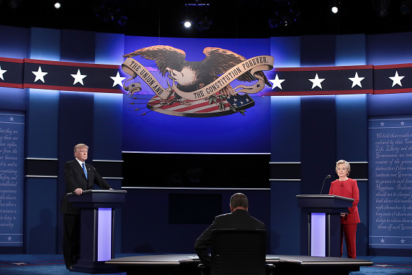 US Republican Party 2016 Presidential Candidate「Hillary Clinton And Donald Trump Face Off In First Presidential Debate At Hofstra University」:写真・画像(6)[壁紙.com]