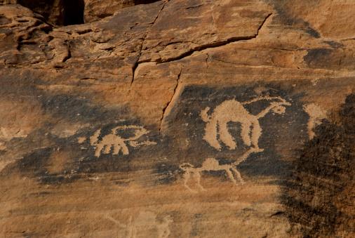 Ancient Civilization「Old rock carving in desert.」:スマホ壁紙(2)