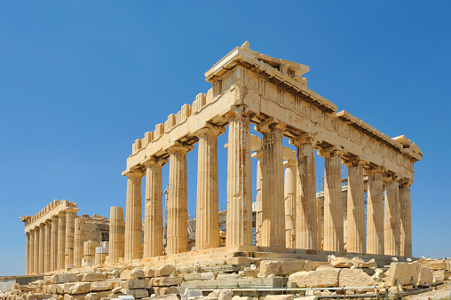 Classical Greek「View of Acropolis and Parthenon」:スマホ壁紙(18)