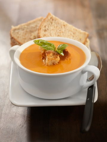Side Dish「Roasted Tomato and Basil Bisque with a Sandwich」:スマホ壁紙(11)