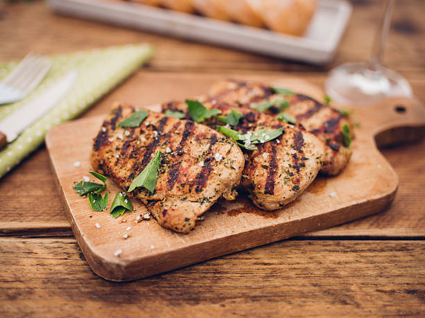 Freshly barbecue grilled pork fillets with herb seasoning:スマホ壁紙(壁紙.com)