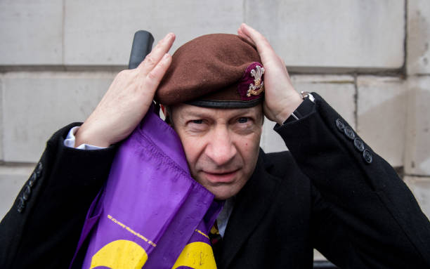Beret「Justice for Veterans Protest In Whitehall」:写真・画像(6)[壁紙.com]