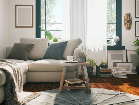 Home Interior「Sunlight Living room」:スマホ壁紙(3)