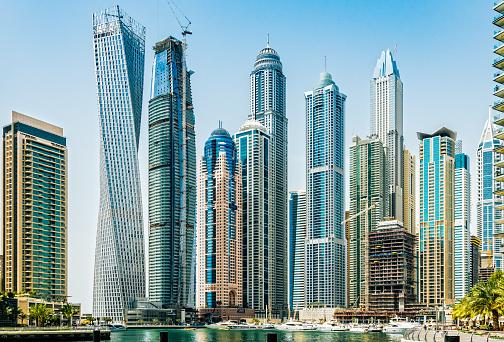船・ヨット「ドバイ ・ マリーナ, アラブ首長国連邦の高層ビル」:スマホ壁紙(19)