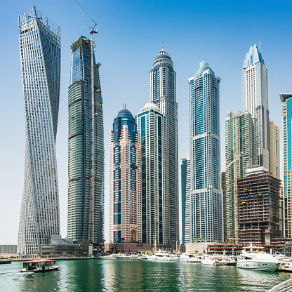 Avenue「Skyscrapers in Dubai marina, United Arab Emirates」:スマホ壁紙(12)