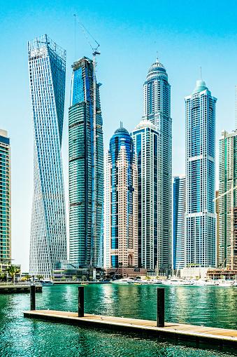 船・ヨット「ドバイ ・ マリーナ, アラブ首長国連邦の高層ビル」:スマホ壁紙(18)