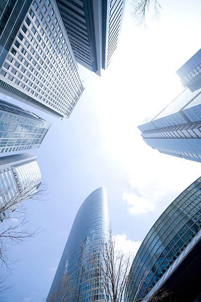 Skyscrapers With Blue Sky. Shinagawa, Tokyo, Japan:スマホ壁紙(壁紙.com)