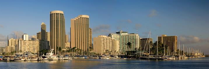 オアフ島「高層ビルのホノルル、ハワイ、米国」:スマホ壁紙(4)
