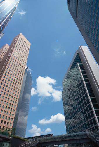 Shiodome「Skyscrapers in Shiodome, Tokyo, Japan」:スマホ壁紙(0)