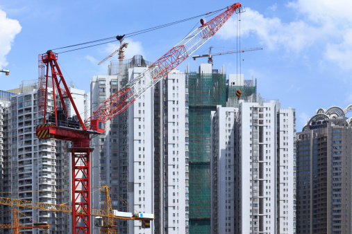 Housing Project「Skyscrapers and construction site in guangzhou」:スマホ壁紙(1)