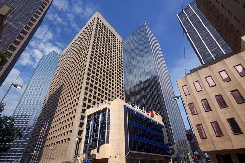 米メキシコ湾沿岸「Skyscrapers in Downtown Dallas」:スマホ壁紙(17)