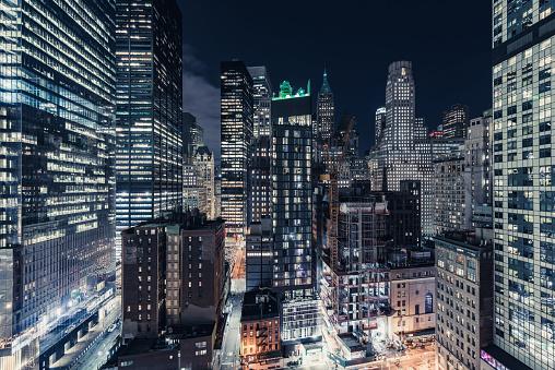 Electrical Grid「Skyscrapers in Lower Manhattan, New York」:スマホ壁紙(15)