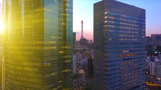 Sunbeam「Skyscrapers in Shiodome at dusk」:スマホ壁紙(10)