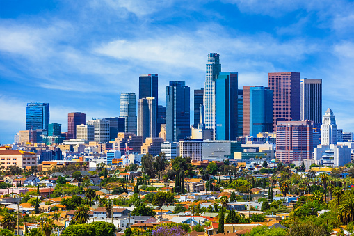 Southern California「Skyscrapers of Los Angeles skyline,architecture,urban,cityscape,」:スマホ壁紙(10)