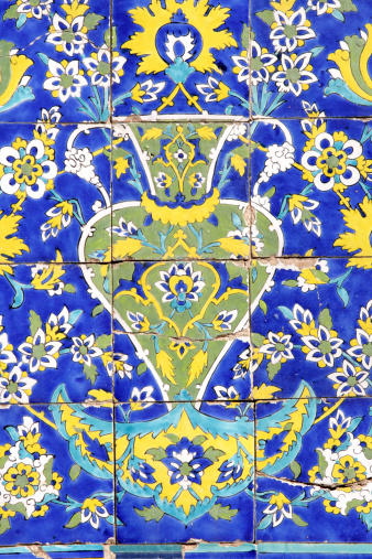 Iranian Culture「Decorated tiles in the Imam mosque」:スマホ壁紙(11)