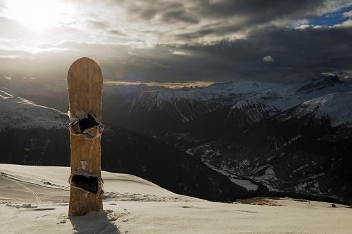 スノーボード「Snowboard, Davos, Switzerland.」:スマホ壁紙(2)