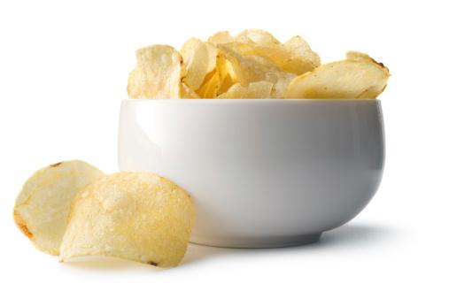 Snack「Snacks: Potato Chips in Bowl」:スマホ壁紙(2)