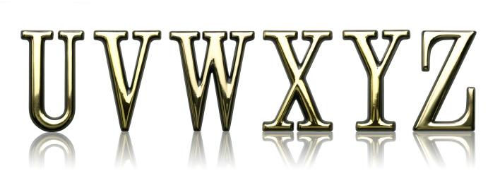 Typescript「Letters - U V W X Y Z」:スマホ壁紙(15)