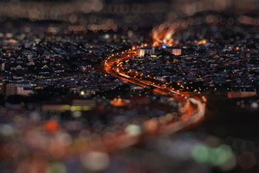 Tilt-Shift「City at night」:スマホ壁紙(8)