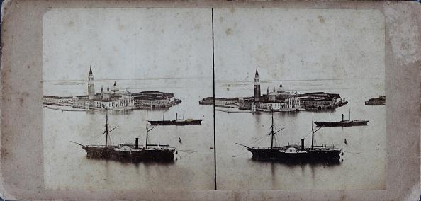 Passenger Craft「Venice. Steam Ship Near The Island Of San Giorgio. About 1880. Stereophotograph.」:写真・画像(11)[壁紙.com]