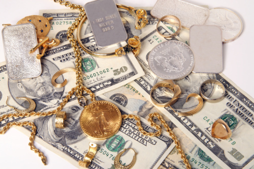 American One Hundred Dollar Bill「Buying gold and silver」:スマホ壁紙(2)