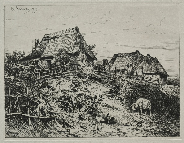 1870-1879「Two Cottages On A Bank」:写真・画像(2)[壁紙.com]