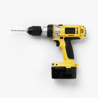 Drill「Cordless drill with battery pack attached」:スマホ壁紙(1)