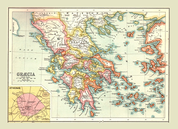Ancient Greece「Map Of Graecia」:写真・画像(13)[壁紙.com]
