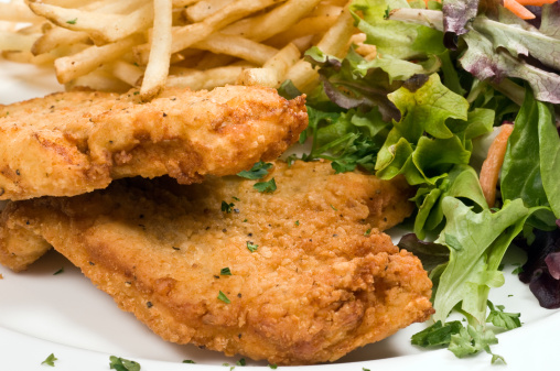 Breaded Chicken「Breaded chicken, salad, and fries」:スマホ壁紙(16)