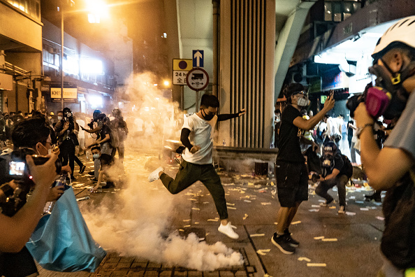 Protestor「Unrest In Hong Kong During Anti-Government Protests」:写真・画像(16)[壁紙.com]