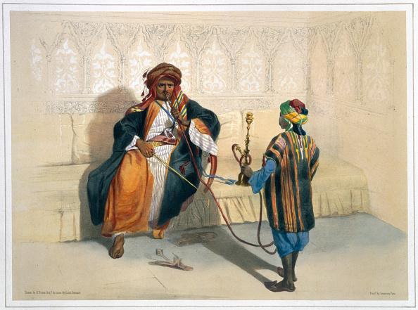 リラクゼーション「An Arab Sheikh Smoking 1848」:写真・画像(10)[壁紙.com]