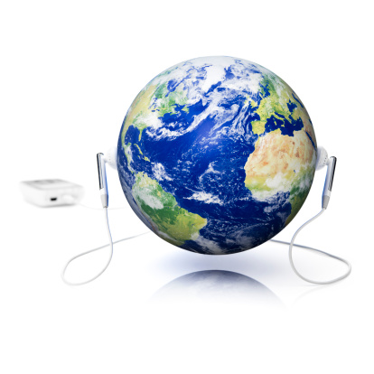 Rock Music「World music. Headphones Earbuds Entertainment Media Listening Earth globe sound」:スマホ壁紙(12)